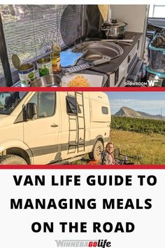 Are you looking for ways to meal planning & food storage on the road? While we live the van life, these tips can be used for whatever type of rig you have. Whether you are a solo rv'er, a full-timing couple or family, or even weekend warriors these ideas will make your life easier. From how much food you can fit in the fridge to storage spaces for dry goods, and so much more. Check out a typical meal plan and take note of the must have rv accessories for the kitchen. Food Storage, Storage Spaces, Scrambled Eggs With Cheese, Storing Fruit, Minimal Kitchen, Life Guide, Van Living, Energy Bars, Rv Life