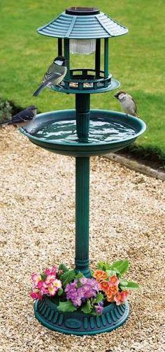 Resultado de imagem para comedouro de passarinho para jardim