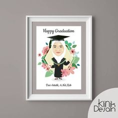 graduate vector by klinik desain ku Vector Design, Graduation, Photo And Video, Frame, Instagram, Decor, Picture Frame, Decoration, Frames