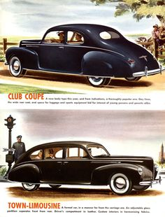 1940 Lincoln Club Coupe and Town-Limousine