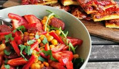 Bunter Kichererbsen-Salat mit Chorizo | volkermampft