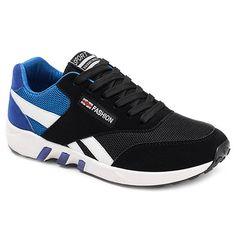 Color Block Breathable Lace-Up Athletic Shoes #Men #Shoes #fashion #style