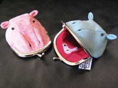 Hippo change purse