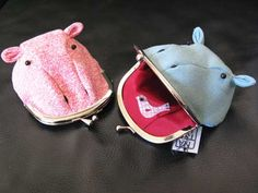 Hippo change purse