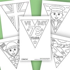 VE Day Anniversary Colour-in Bunting Fall Bunting, Patriotic Bunting, Mini Bunting, Vintage Bunting, Rainbow Bunting, Paper Bunting, Christmas Bunting, Birthday Bunting, Bunting Banner