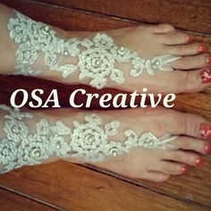 Lace barefoot sandals Bare Foot Sandals, Barefoot, Crochet Necklace, Goodies, Creative, Handmade, Jewelry, Fashion, Sweet Like Candy