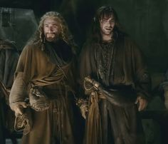 Its the scene where they are horrified and scared of what Thorin has become