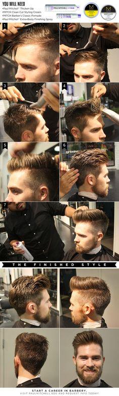 Men's Pompadour Styling Tips