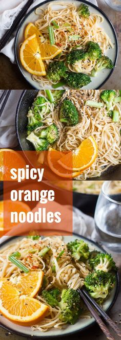 Broccoli florets and noodles are stir-fried and tossed in a sweet and spicy citrus sauce to make these mouthwatering and super easy spicy orange noodles.