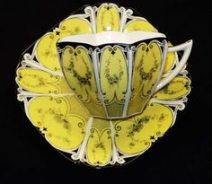 Shelley Queen Anne Yellow Garland Tea Cup and Saucer | eBay