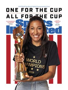 Christen Press Sports Illustrated Commemorative Digital cover celebrating the USWNT 2019 World Cup champions, July Usa Soccer Team, Soccer Players, Football Team, Basketball, Women's World Cup, Fifa World Cup, Jessica Mcdonald, Sports Illustrated Covers, Orlando Pride