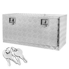 Aluminum Truck Underbody Tool Box Trailer RV Tool Storage Under Bed w/ Lock Box Trailer, Trailer Storage, Camper Storage, Pickup Tool Boxes, Truck Bed Tool Boxes, Best Truck Tool Box, Truck Tools, Aluminum Truck Beds, Autos