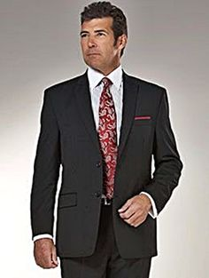Man wearing stylish dark suit.  http://www.biggentsclothes.com/2014/12/02/dress-stylishly-in-big-and-tall-dress-clothes/