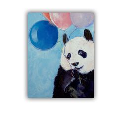 ArtApeelz Panda Party by Michael Creese Painting Print on Canvas