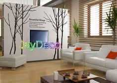Vinyl Wall Decals Tree Wall Stickers Tree Decor Black by Jaystore, $65.99
