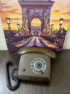 Rare Vintage chocolate phone,Old rotary phone,circle dial rotary phone,vintage landline phone,Old Dial Desk Phone,Retrophone,Сhocolate phone Board Game Table, Table Games, Board Games, Pay Attention To Me, Retro Phone, Vintage Phones, Pack And Ship