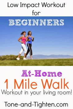 Low Impact Beginners Workout – At Home 1 Mile Walk Video | Tone and Tighten