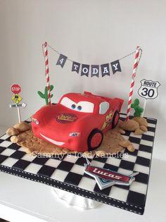 Lightening McQueen birthday cake