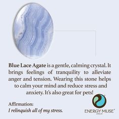 Blue Lace Agate Stone, Discover the Blue Lace Agate Meaning from Energy Muse