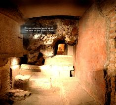 Composite view of the Clivus from the virtual tour of the Vatican Necropolis at www. Wooden Table Diy, Diy Table, St Peters Basilica, Alleyway, Red Walls, Virtual Tour, Saints, Tours, Italy