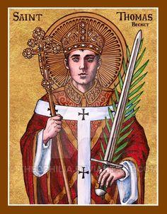 St. Thomas Becket icon by Theophilia.deviantart.com on @DeviantArt