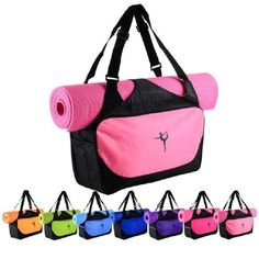 Easily carry your yoga mat and all your fitness gear in this waterproof bcc5fa7546a0c