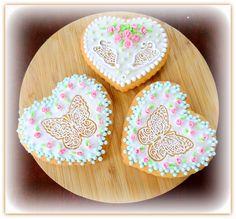 """Vanilla cookies """"Butterflies in the heart"""" Vanilla Cookies, Butterflies, Sugar, Heart, Desserts, Food, Tailgate Desserts, Deserts, Essen"""