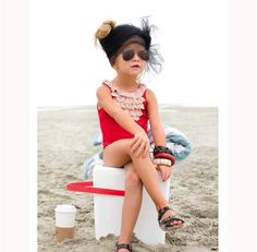 rockin' the beach look!