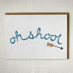 Sorry card  Oh shoot by frenchnavyco on Etsy, $4.00