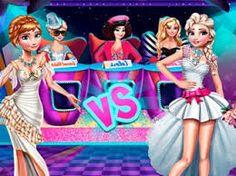 Elsa vs Anna Fashion Battle!: Elsa e Anna de Frozen estão se preparando para uma batalha de moda. Você vai participar da batalha vestindo as irmãs. Faça o seu melhor e veja quem será ganhadora do concurso de moda.