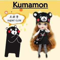 [ 25% OFF ] Kumamon  Suitable For Blyth Doll, With Hat Shoes And Bag, Super Cute 280Bl764A