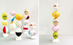 Easter Egg Totem Pole | 40 Creative Easter Eggs