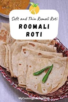 Roomali Roti | Soft and Thin Rumali Roti, is a popular flatbread from the regions of India and Pakistan. The texture and the fold of the roti resembles the Handkerchief and hence called the Handkerchief roti. #dinner #indianrecipe #roomaliroti #roti @mycookinjourney | mycookingjourney.com Quick Bread Recipes, Best Bread Recipe, Side Dish Recipes, Best Side Dishes, Indian Food Recipes, Real Food Recipes, Asian Recipes, Cooking Recipes, Ethnic Recipes