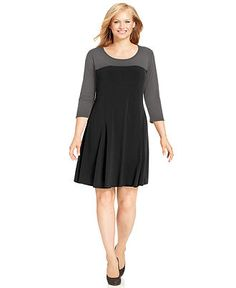 Alfani Plus Size Dress Sleeveless Zip Front A Line Plus Size