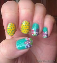Easter Egg Nail Art, Bold Easter Eggs Nails, Easter nail art designs #2014 #easter #egg #nail #art #designs www.loveitsomuch.com