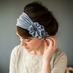Garlands of Grace Katherine Rosette Headwraps Thin Headbands, Handmade Headbands, Turbans, Altered Couture, Making Hair Bows, Diy Hair Accessories, Fabric Jewelry, Sewing Projects For Beginners, Hair Ornaments