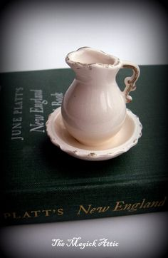 Dollhouse miniature vintage pitcher and basin