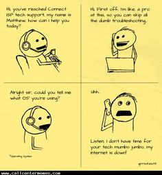 Why tech support is always so painful... - http://www.callcentermemes.com/why-tech-support-is-always-so-painful/
