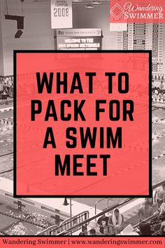 Not sure what to bring to a swim meet meet? Here's a list of essential items to pack in your swim bag for your next swim meet. Swim Meet, What To Pack, Encouragement, Bring It On, Swimming, Bag, Sports, Swim, Hs Sports