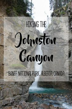 Hiking Johnston Canyon in Alberta's Banff National Park With beautiful waterfalls, caves, dense forests, amazing natural scenery and the deep canyon, Johnston Canyon is an incredible place to hike in Banff National Park! It is a popular hike that is eas #banffsummerphotos