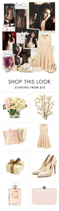 """""""Elena gilbert"""" by mery90 ❤ liked on Polyvore featuring INC International Concepts, Nordstrom, Polaroid, Rupert Sanderson, Chanel, A Wear and Bellagio"""