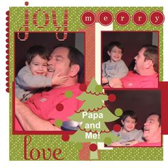 Stampin For Me: Christmas Scrapbook Page #2