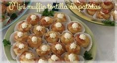Mini muffin de tortilla de patatas/mini muffin spaanse aardappelomelet/mini muffin spanish potato omelet. https://www.facebook.com/notes/asuns-delicious-cooking/spaanse-tortilla-muffins/815875188543063