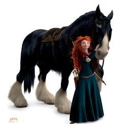 Merida and Angus - Disney Pixar's Brave - Advanced Graphics Life Size Cardboard Standup Brave Costume, Merida Costume, Merida Dress, Disney Pixar, Disney And Dreamworks, Brave Disney, Merida Disney, Disney Art, Disney Wiki
