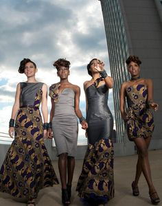 Far left ♥ Afro Chic Winter 2009 African Inspired Fashion, African Print Fashion, Africa Fashion, Ethnic Fashion, African Prints, Ankara Fashion, Fashion Dresses, African Attire, African Wear