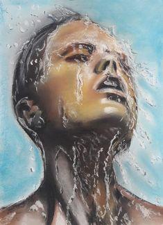 Portret in de regen – wbj-art My Arts, Artwork, Rain, Work Of Art, Auguste Rodin Artwork, Artworks, Illustrators