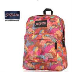 JanSport Multi Blush Prints Backpack - Jansport backpack-Campaign Categories - TopBuy.com.au