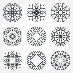 Colección de abstracto geométrico elementos. - ilustración de arte vectorial