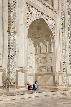 The UNESCO World Heritage Site of the Taj Mahal, a white Marble mausoleum built by Mughal emperor Shah Jahan in memory of his third wife, Mumtaz Mahal.