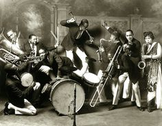 Jazz band at Jack Johnson's Cafe de Champion, 41 W 31st Street, 1919, Chicago